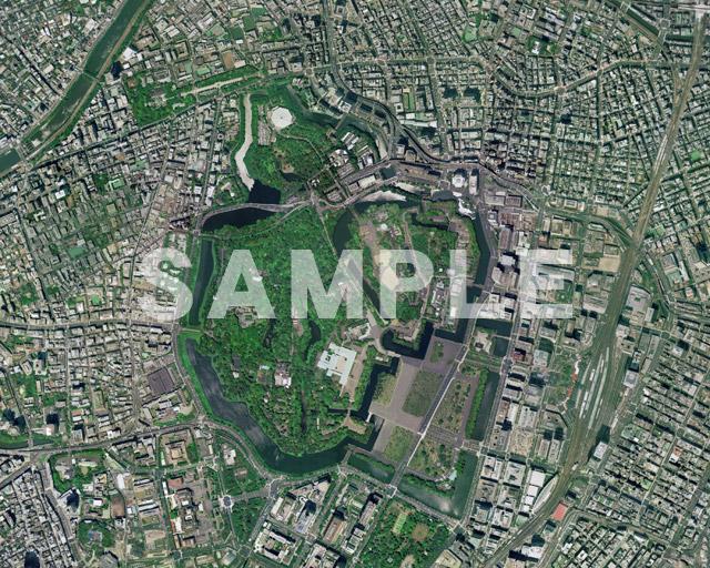 皇居周辺の航空写真
