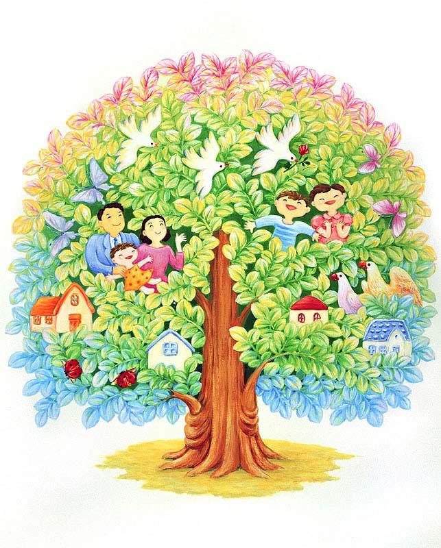 七井直美 家族の幸せな暮らし・子ども・ファミリー・家族イラスト