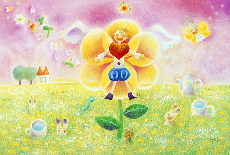 イラスト 9月のカレンダーイラスト : ファンタジーイラスト 春の絵 ...