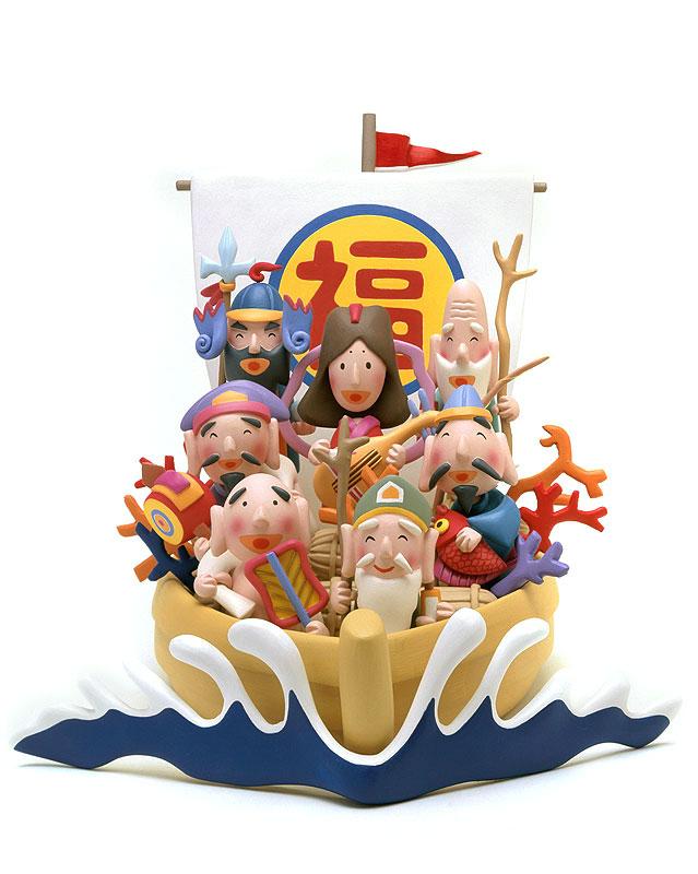 後藤樹史 宝船に乗ってやってきた七福神