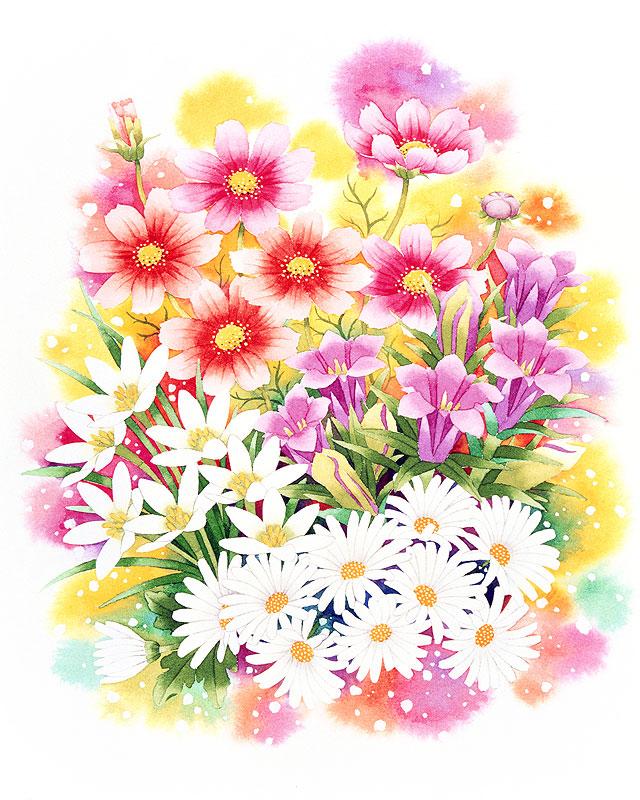 「花束 イラスト 秋」の画像検索結果