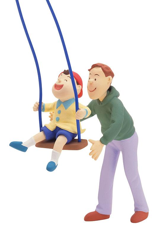 石川恵子 子どもと公園で遊ぶパパのイクメンイラスト