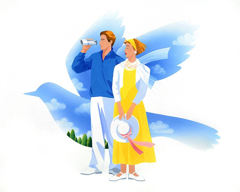 岩崎みよこ 人物・カップル・恋人イラスト