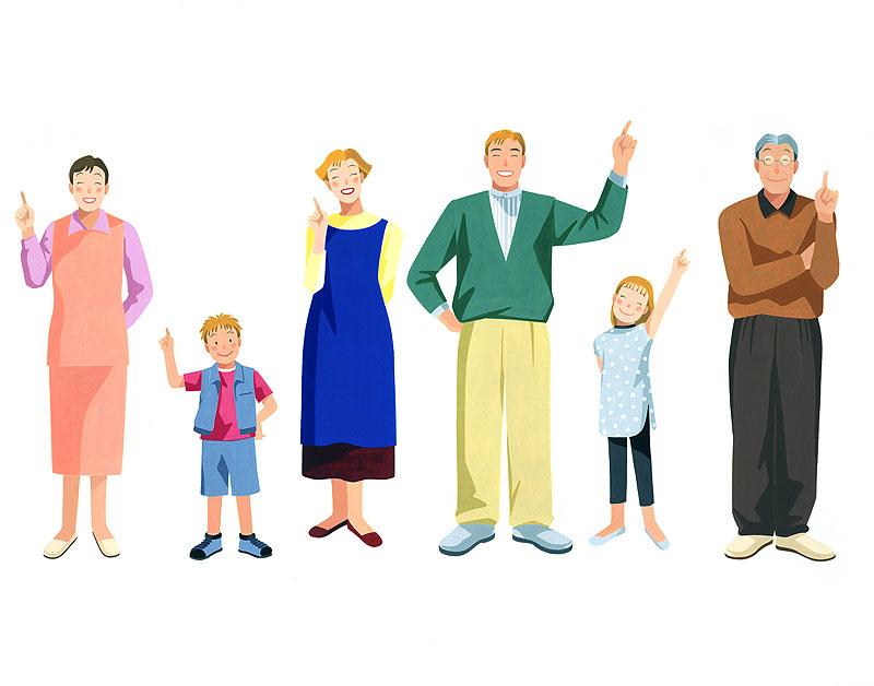 岩崎みよこさんの家族みんなのこだわりとポイントで希望を叶える夢づくりイラストです。