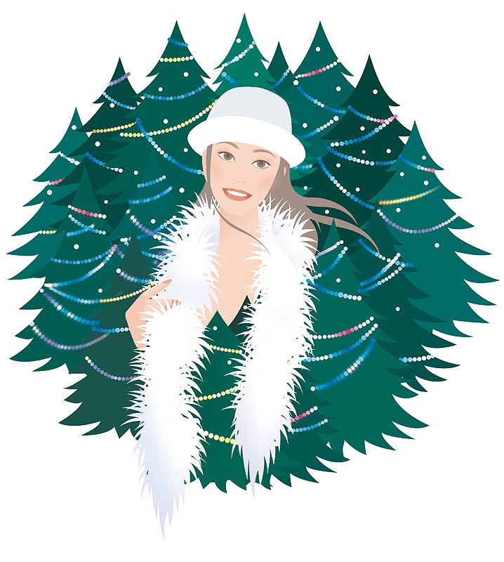 岩崎みよこ クリスマスパーティーイラスト
