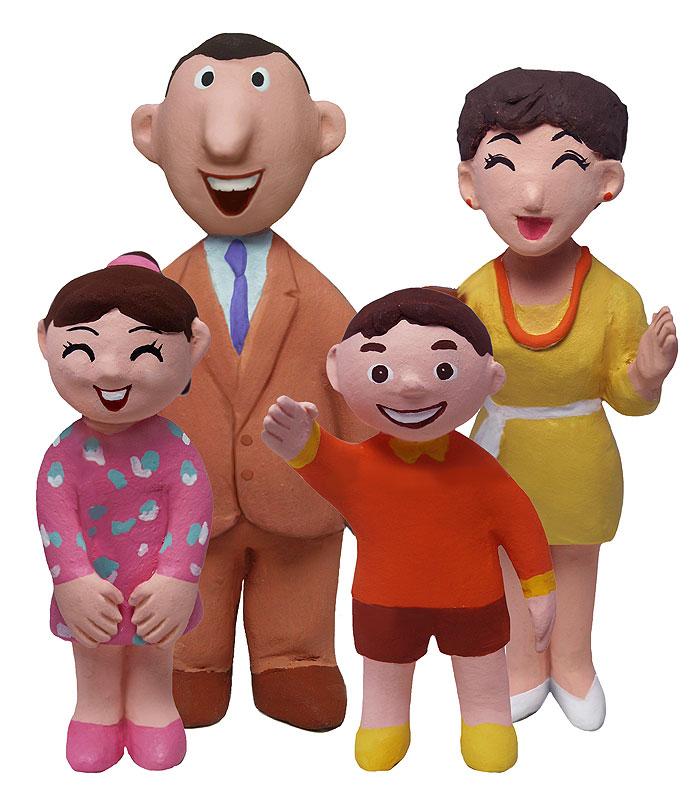 家族の肖像イラスト 4人家族の肖像家族ファミリーイラスト   家族の肖像イラスト 4人家族の肖像