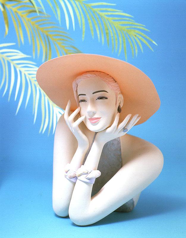 木村よしひろ 夏の日差しの紫外線対策美白女性イラスト 女性イラスト