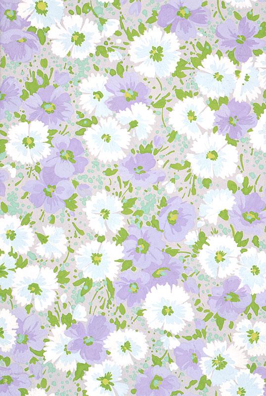 植物イラスト 白と薄紫の花柄のパターン   植物イラスト 白と薄紫の花柄のパターン