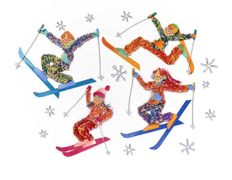 修学旅行はスキー?ウィンタースポーツイラスト