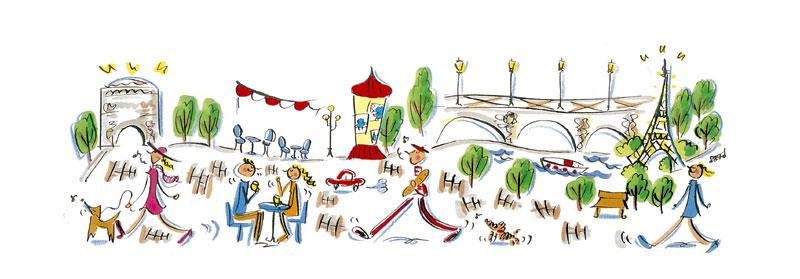 ナカムラユキ 憧れのパリでオシャレな都市生活イラスト