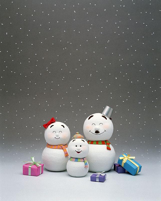 中津順 雪だるま クリスマス 冬イラスト