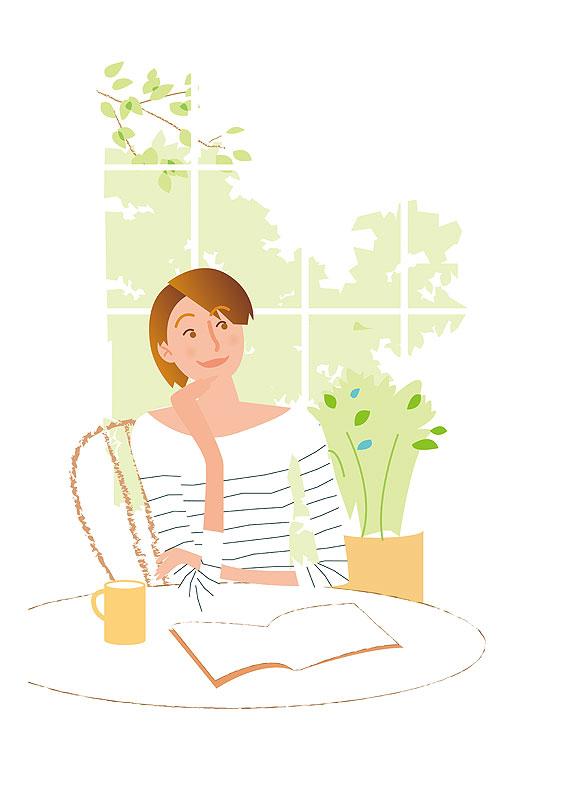 「女性 お茶 イラスト」の画像検索結果