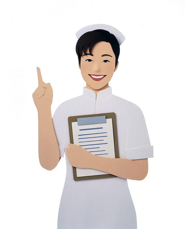 大竹則彦 看護師イラスト 薬の説明