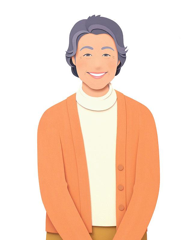 大竹則彦 団塊女性のライフスタイル母の日イラスト