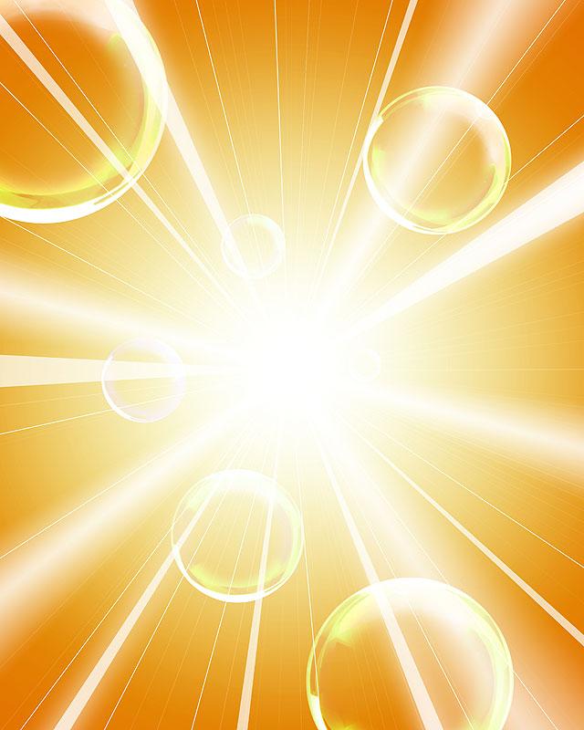 背景イラスト 放射状の光とシャボン玉イメージ 背景イラスト 放射状の光とシャボン玉イメージ 作品