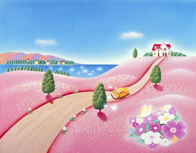 風景イラスト 春の花々で ... : カレンダーバンク : カレンダー