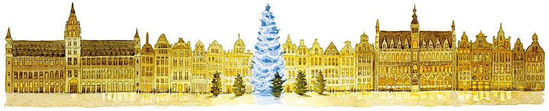 クリスマスイラスト クリスマスツリーのイルミネーション