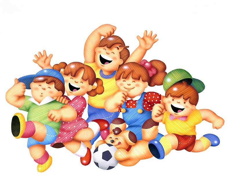 楽しく元気に遊ぶ子供達のイラスト