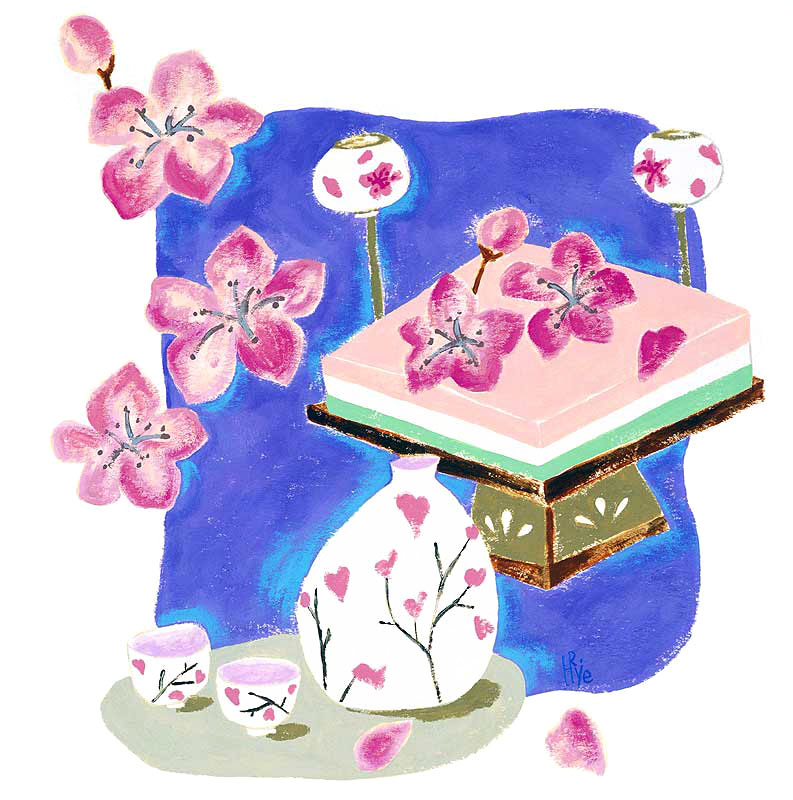 イラスト ひな祭り 桃の花 イラスト : ひな祭りイラスト 桃の花と ...