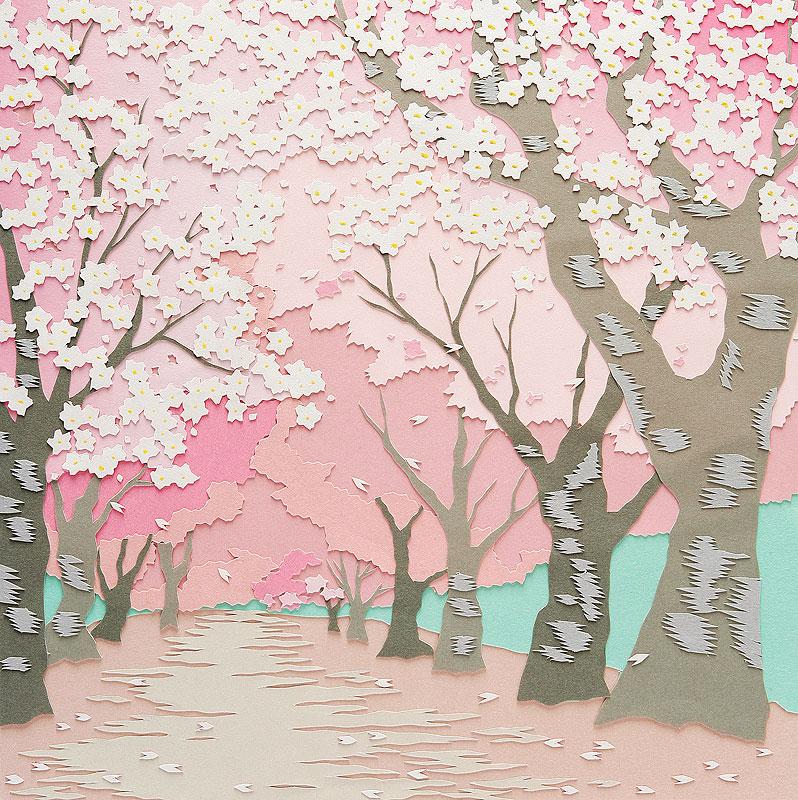 山本高史 春の風景イラスト