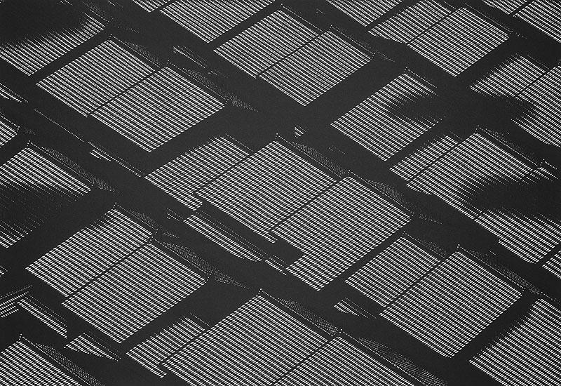 和風イラスト切り絵 京の町家 甍(瓦屋根)の風景