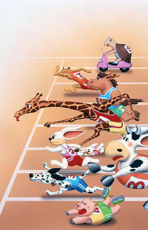 運動会でかけっこ 動物イラスト ストックイラスト 衛星写真素材blog 株式会社アートバンク オフィシャルブログ